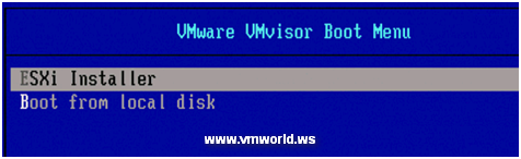 VMware Boot Menu